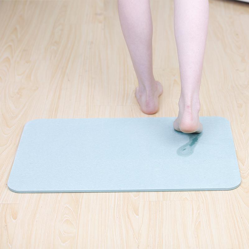 天然硅藻泥脚垫吸水防滑速干厨房卫生间硅藻土地垫淋浴房浴室垫子