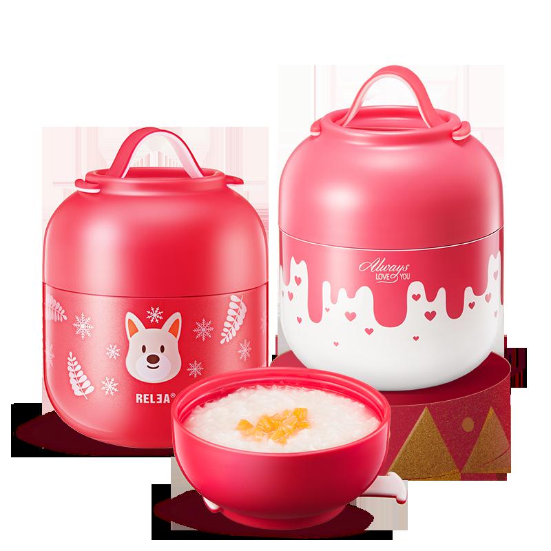 物生物焖烧杯超长保温饭盒便当成人儿童粥汤桶闷烧壶罐304不锈钢