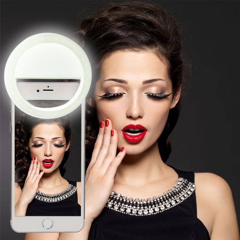 抖音RK12充电款手机直播美颜补光灯珠宝饰品手机拍摄自拍补光灯