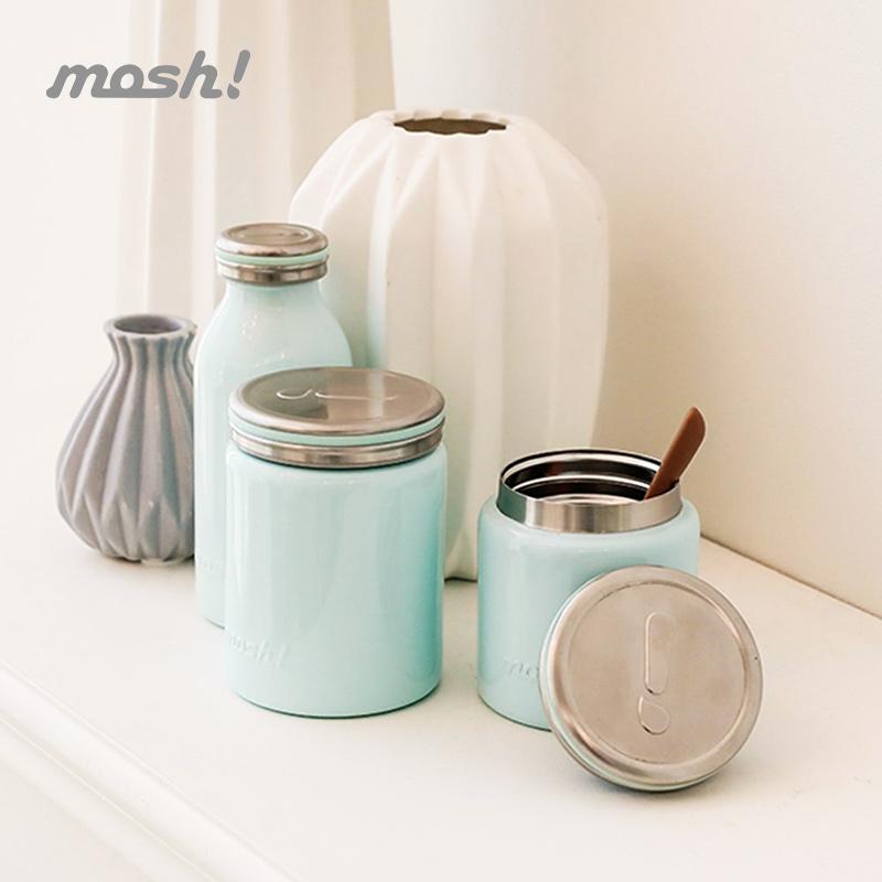 mosh日本304不锈钢保温桶焖烧杯便当盒学生男女士儿童可爱饭盒