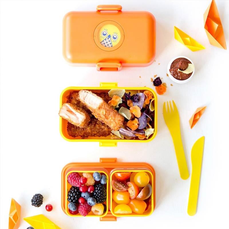 法国Monbento饭盒儿童零食盒日式便当盒学生分格餐盒可爱饭盒