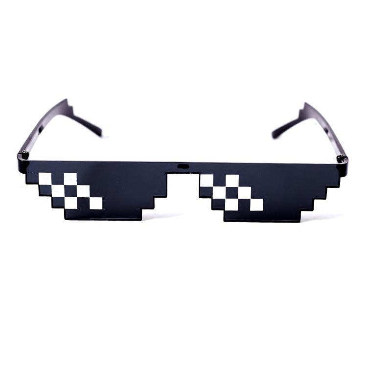 thuglife像素马赛克眼镜二次元抖音道具动漫周边装b眼镜恶搞墨镜