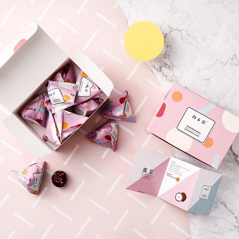 【草莓樱桃云朵巧克力】甜牙齿原创少女心零食礼物轻柔情人节