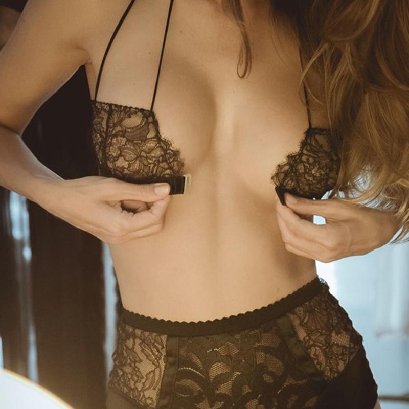 BOTHYOUNG性感前扣吊带美背文胸bralette蕾丝细带内衣情趣胸罩女