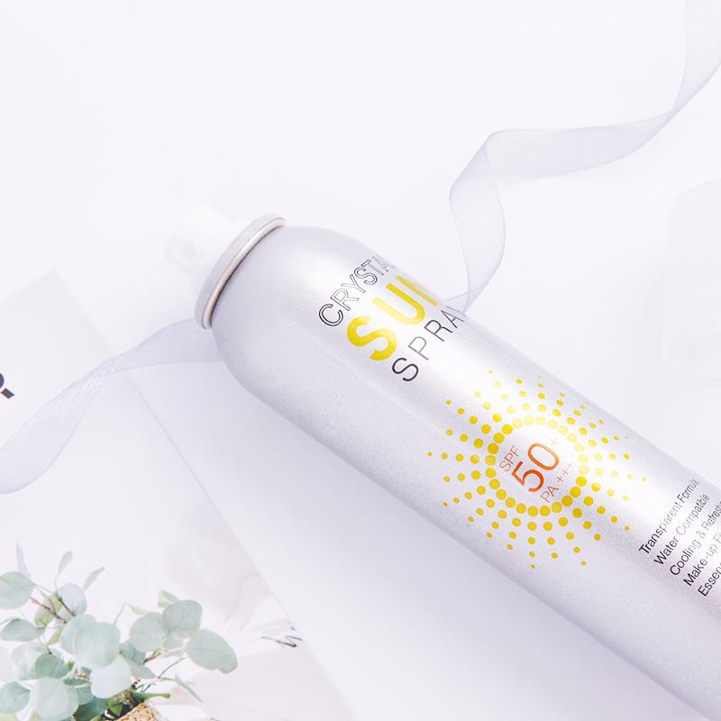2瓶 韩国RECIPE水晶防晒喷雾全身防紫外线SPF50防晒霜女户外防水