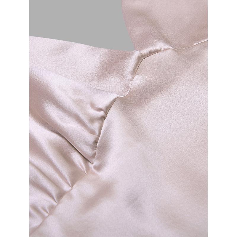 MANITO/曼尼陀 Essential真丝吊带短睡裙性感深V领纯色丝绸家居服