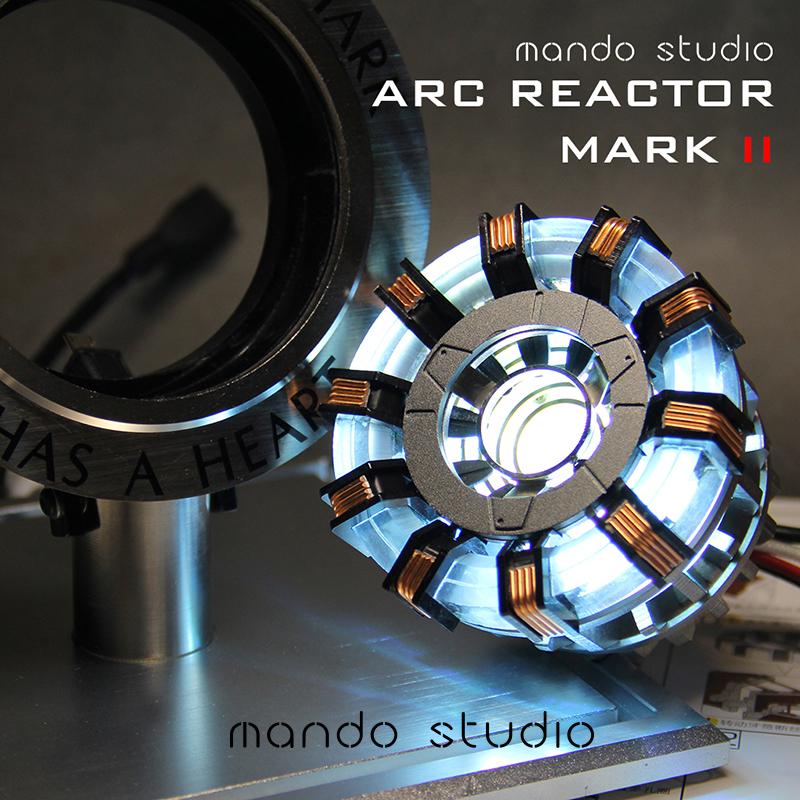 Mando新品钢铁侠核反应堆MK2代电弧心脏胸灯拼装手办模型礼物漫威