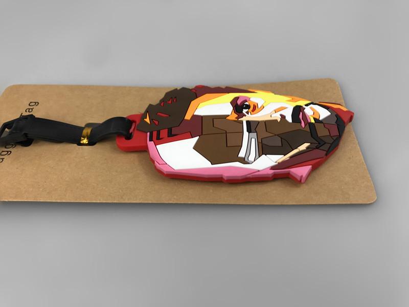 漫威周边系列 钢铁侠ironman托尼斯塔克旅行必备行李牌登机牌挂件