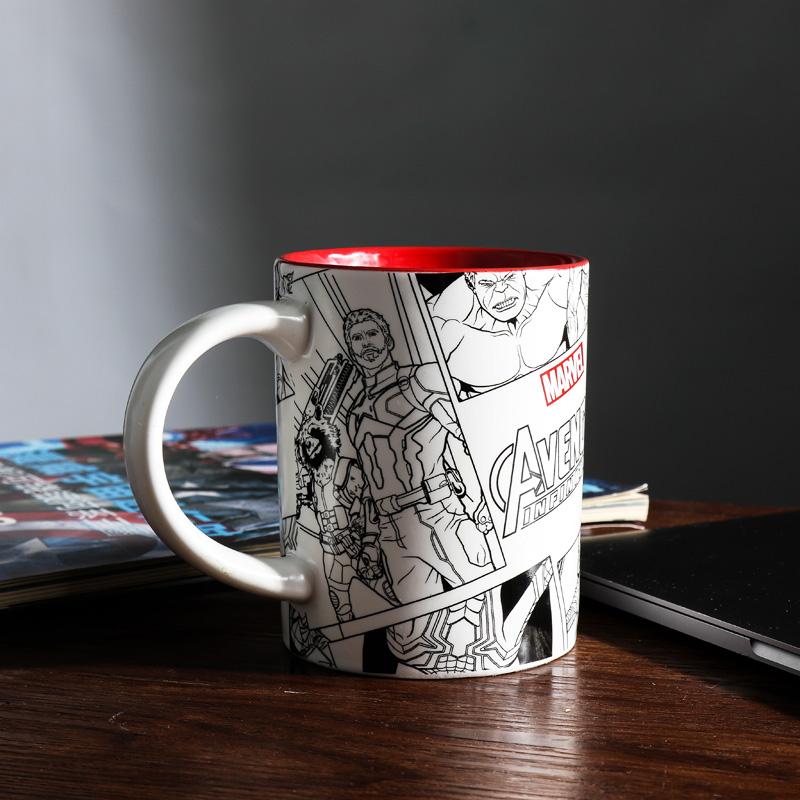 预售 复仇者联盟3 漫威经典漫画复古马克杯 520ml新骨瓷水杯