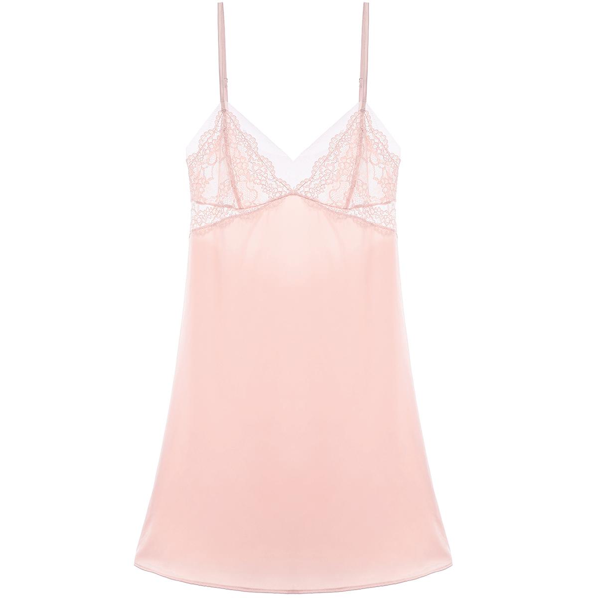 性感蕾丝仿真丝睡裙女夏吊带裙舒适家居服夏天粉色睡衣甜美法式