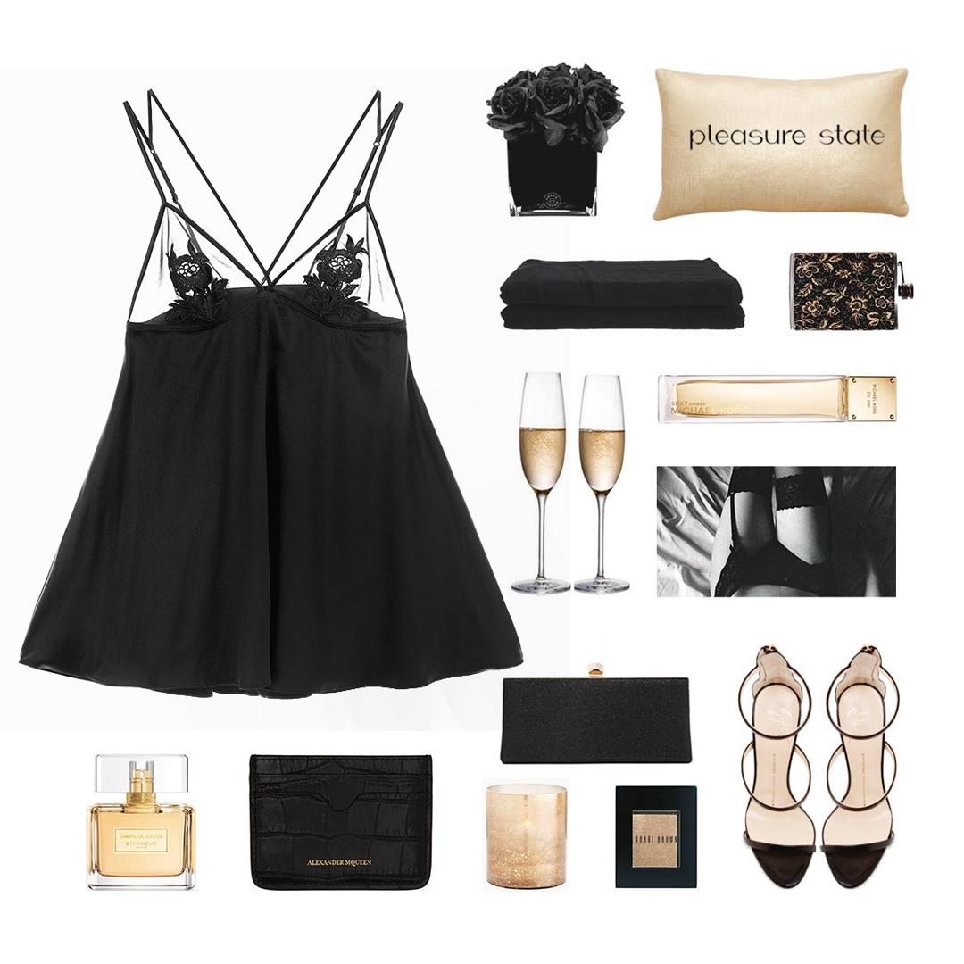 法式蕾丝诱惑睡裙透视吊带裙睡衣仿真丝刺绣短裙性感外穿家居服黑
