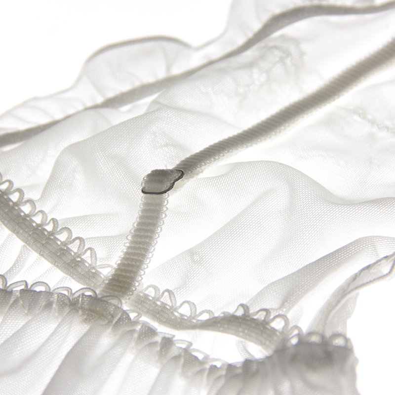 夏季深V大露背性感诱惑透明蕾丝网纱睡裙吊带夜衣超短白色睡衣
