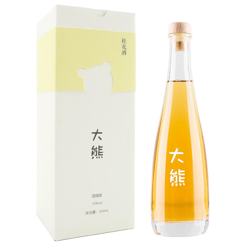 【高颜值】大熊桂花酒 桂花酿糯米酒自酿10度女士甜酒花果酒礼盒