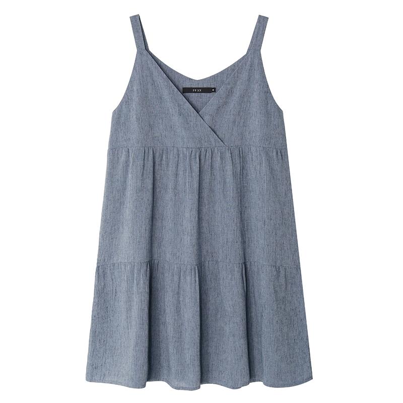 FFAN泛泛 吊带小清新连衣裙女夏2018新款闺蜜装长裙子 两色入