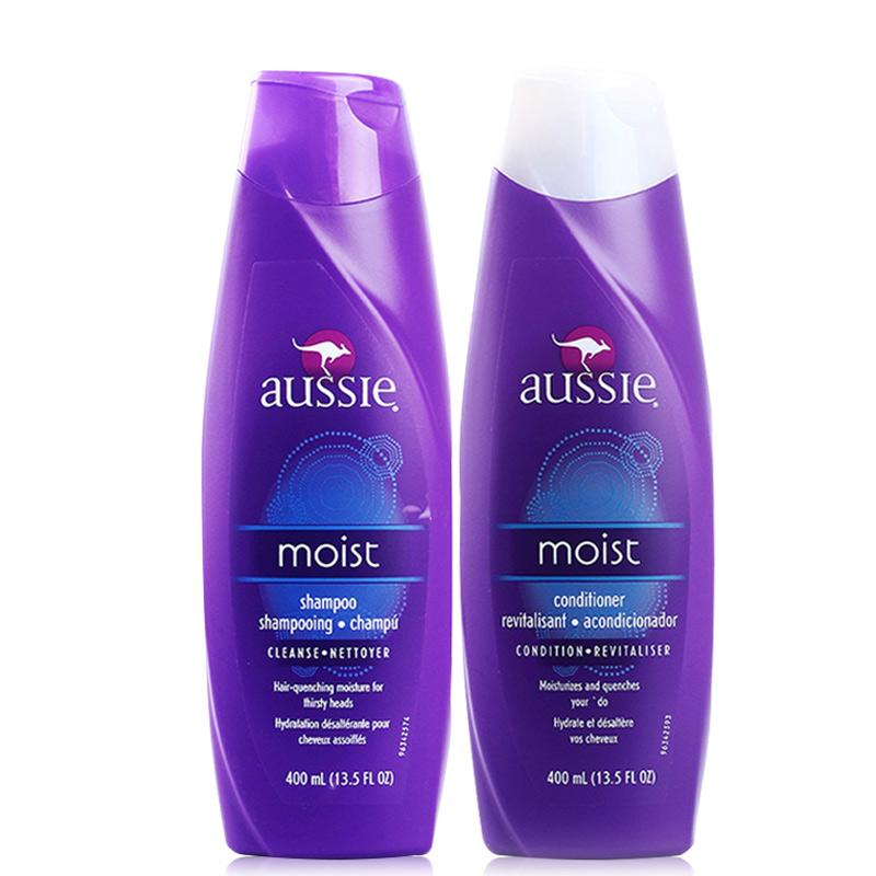 美国正品Aussie袋鼠滋润保湿洗发水+护发素400ml 洗护组合套装