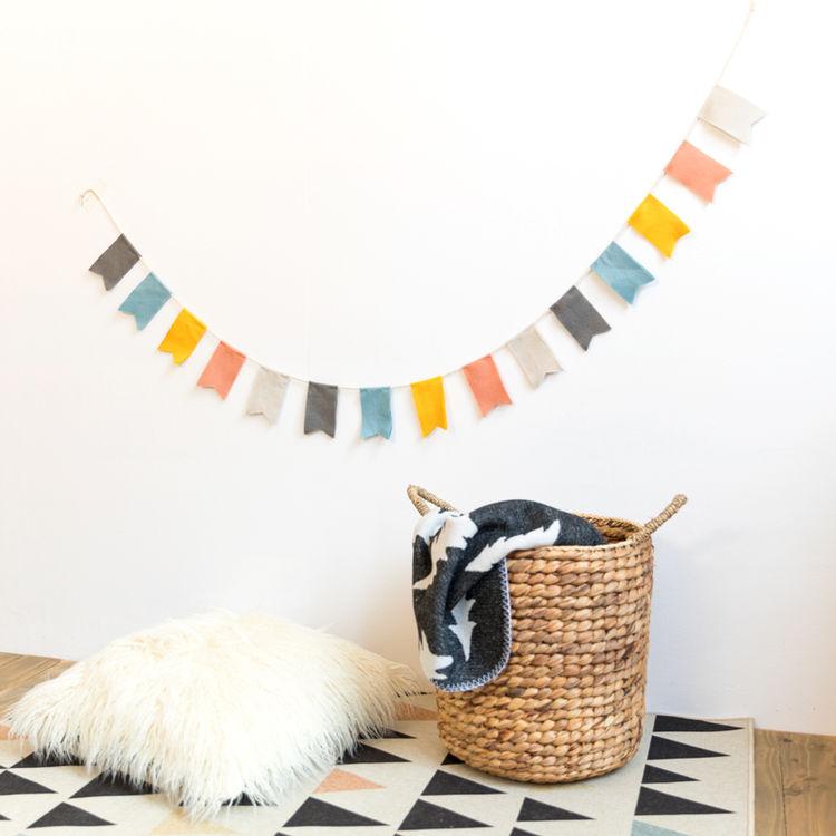 阿楹 北欧旗子三角串旗小彩旗装饰ins幼儿园室内户外派对儿童房间