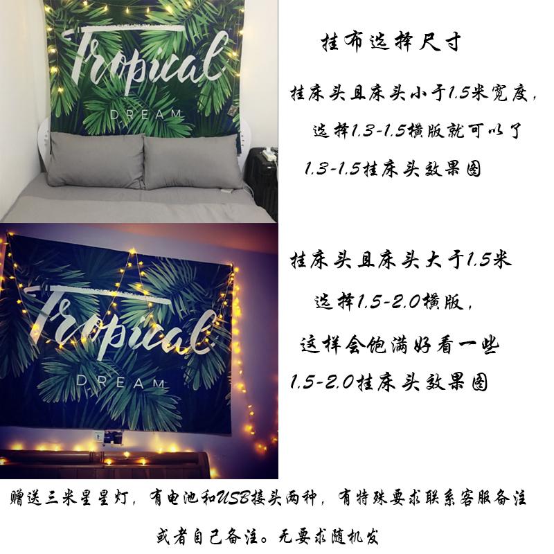 背景布ins挂布挂毯墙布北欧风格简约植物主播拍照卧室客厅装饰布