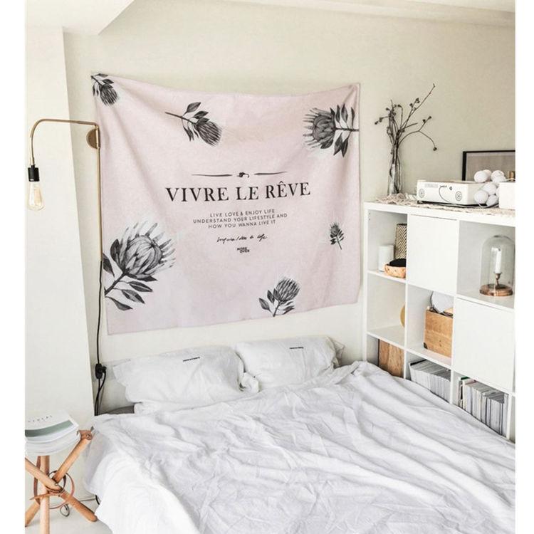 北欧ins拍照背景墙挂布床头装饰布艺术布艺画布壁挂壁毯墙毯挂毯