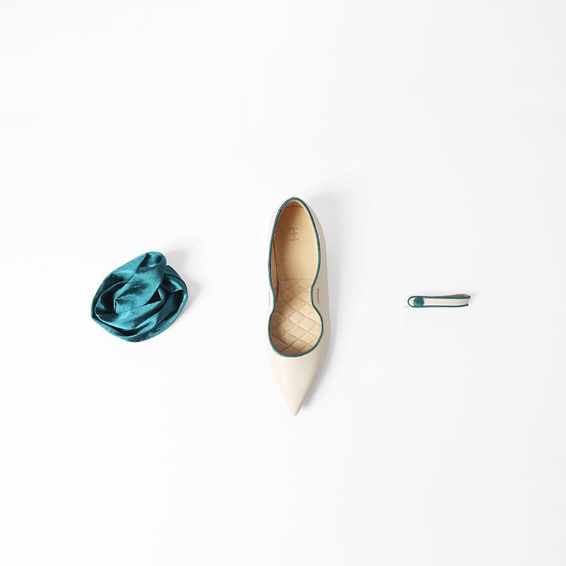 Opheliarita原创设计品牌|蝴蝶结绑带一字带玛丽珍单鞋女撞色