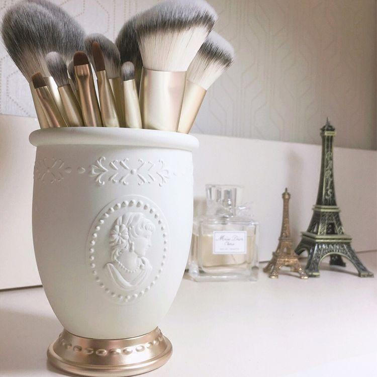 贵族浮雕肖像化妆刷筒化妆刷桶笔筒桌面收纳筒化妆品收纳盒