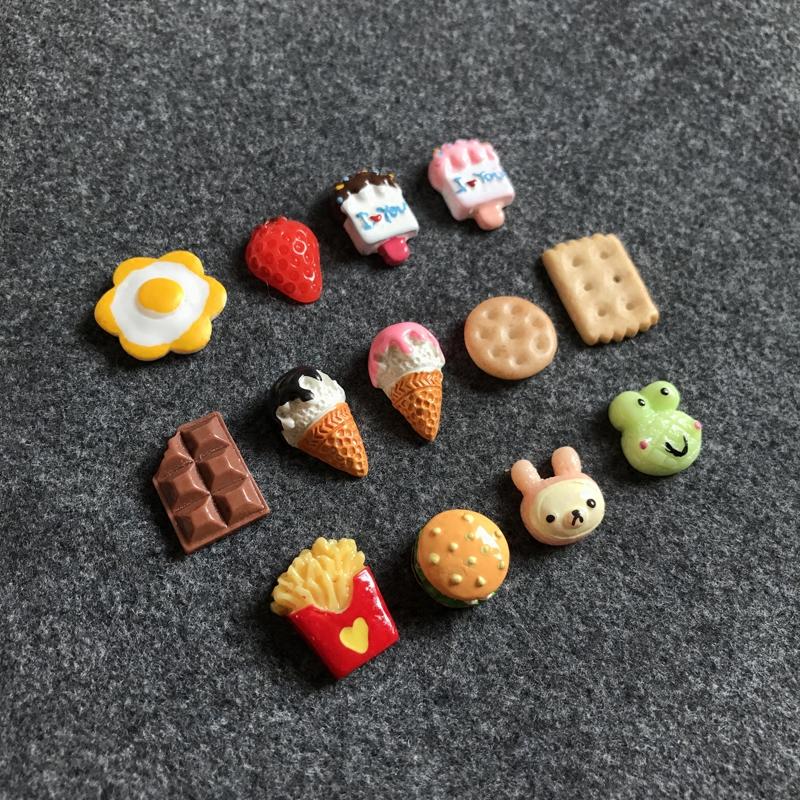 日系冰淇淋饼干甜点 软妹原宿女不锈钢针防过敏耳钉耳环耳饰饰品