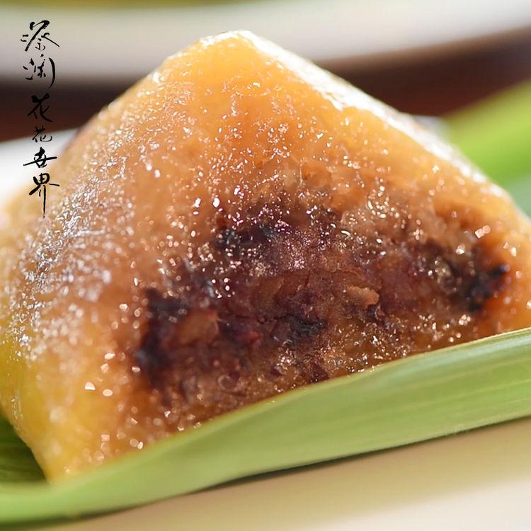 蔡澜花花世界 抱抱红豆粽子 广东道滘裹蒸粽手工红豆粽端午甜粽子
