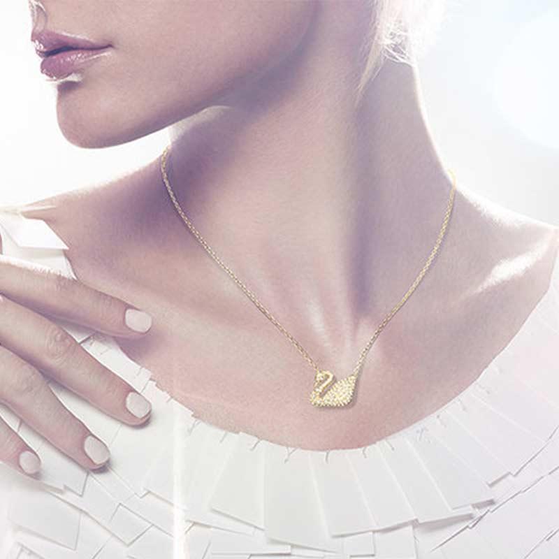 SWAROVSKI施华洛世奇 经典金天鹅Swan系列 女士项链5063921