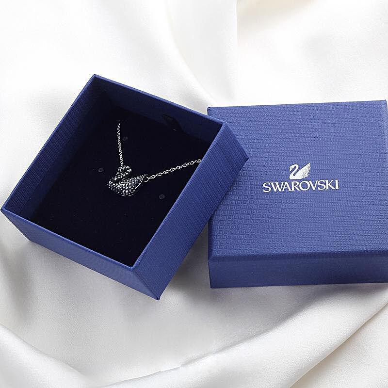 SWAROVSKI 施华洛世奇 Iconic Swan 黑天鹅项链 5347329