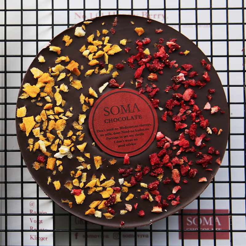 狐狸事务所 芒果草莓CD巧克力礼品 网红手工巧克力送朋友 伴手礼
