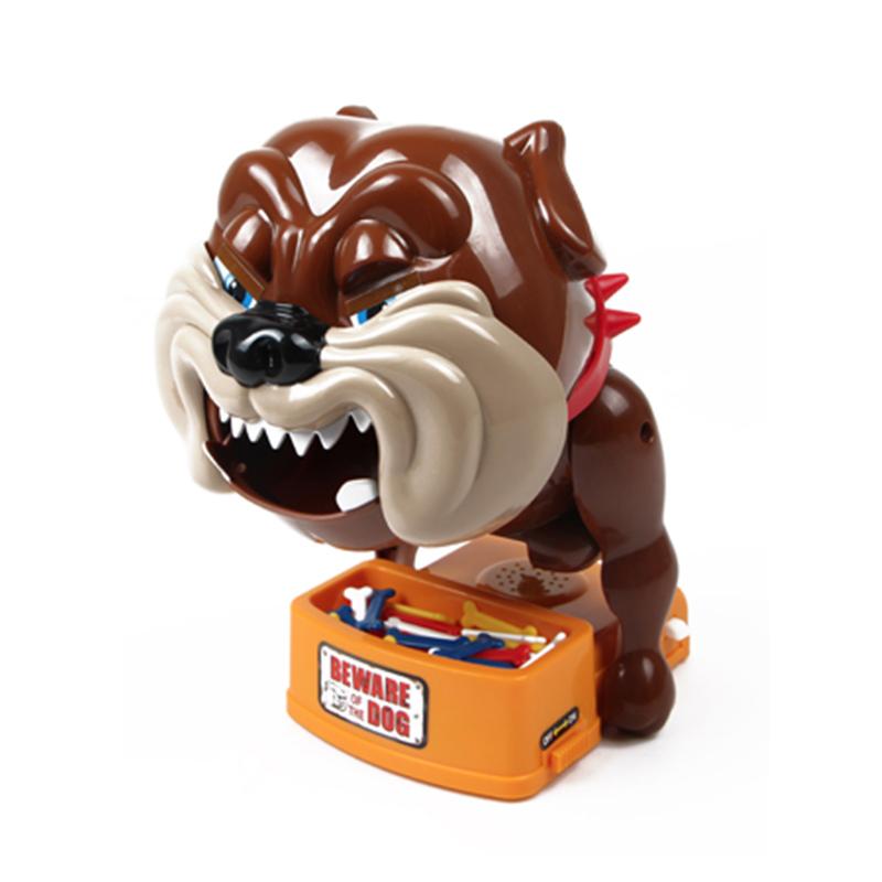 小心恶犬玩具夹骨头的狗恶狗咬手指偷骨头整蛊儿童同款抖音玩具狗