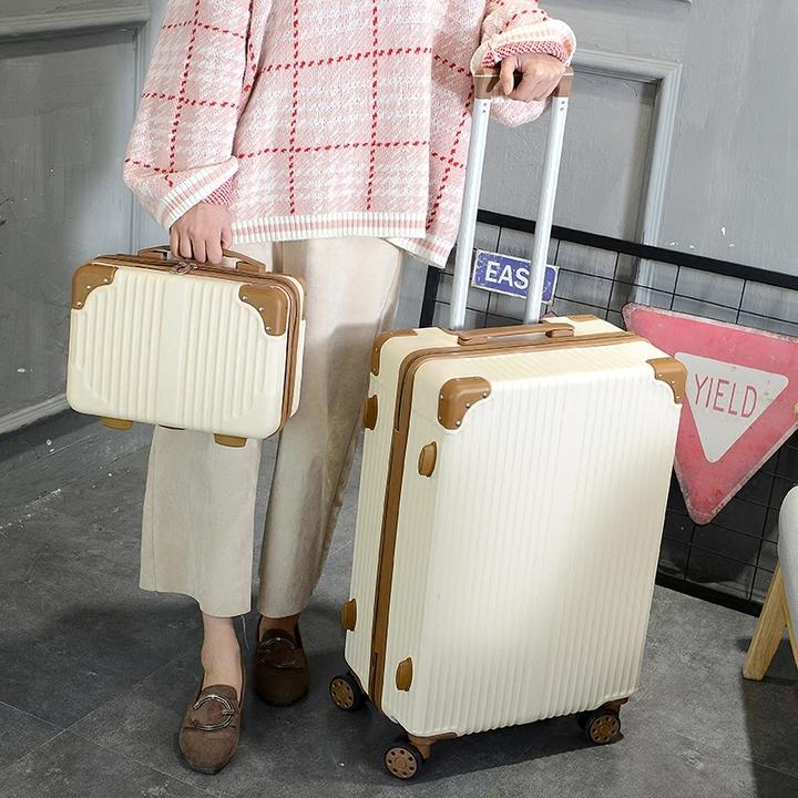 韩版行李箱女小清新皮箱拉杆箱万向轮20寸大学生子母箱可爱旅行箱