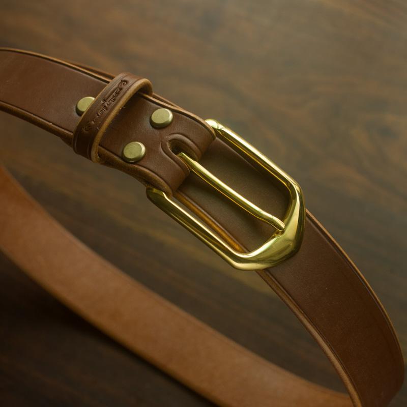 Bridle马缰革手工植鞣革腰带 手工牛皮腰带 英国马具皮 鞍革腰带