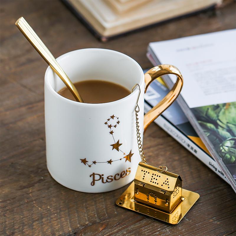 烫金12星座 陶瓷马克杯子礼盒