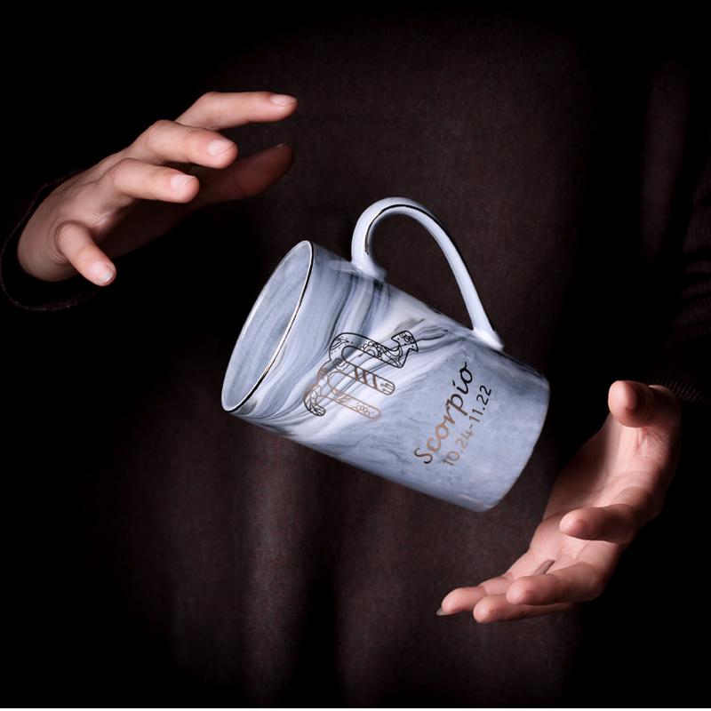 北欧大理石 十二星座杯子陶瓷马克杯
