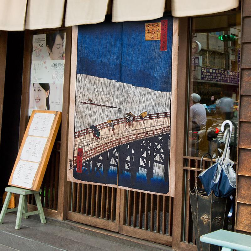 日式浮世绘暖帘