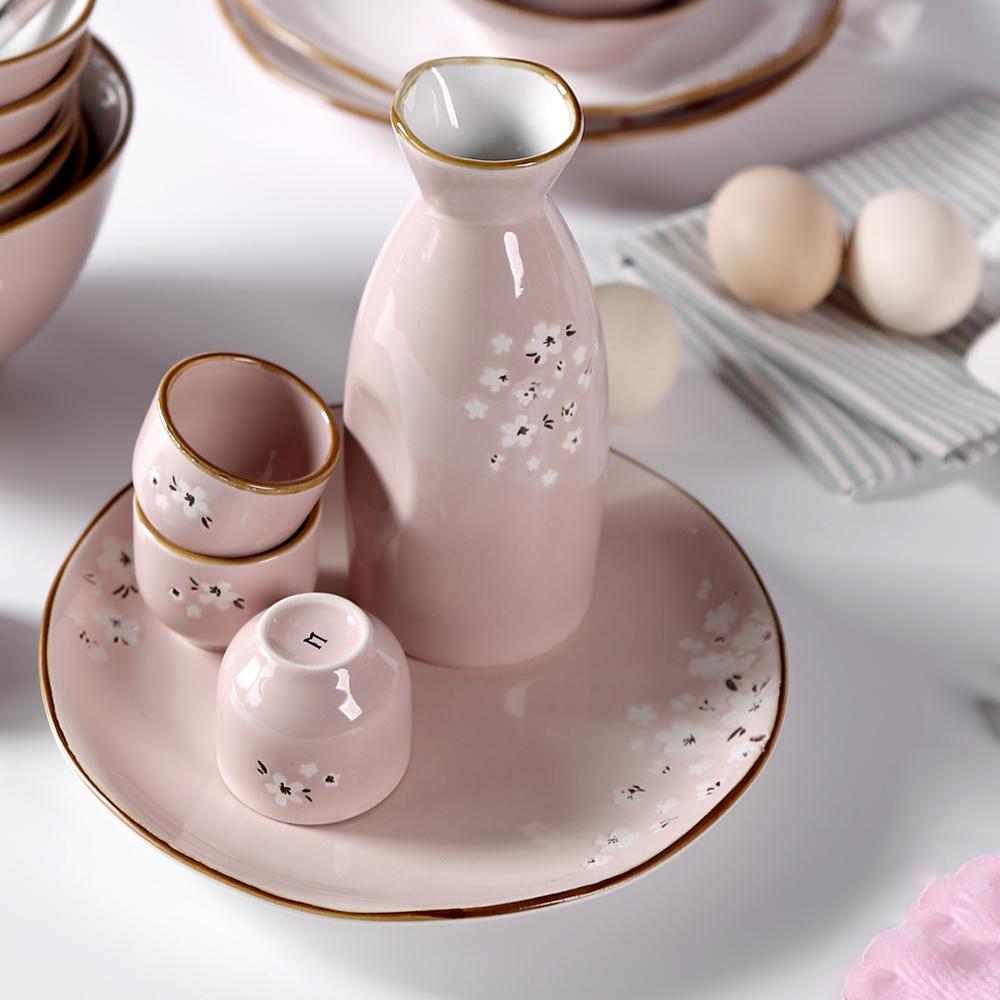 日式樱花手绘陶瓷餐具礼盒