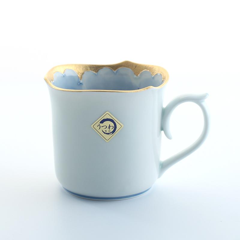 日本有田烧文山窑牡丹马克杯