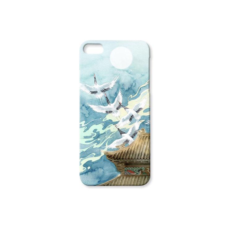 和风仙鹤超薄手机壳