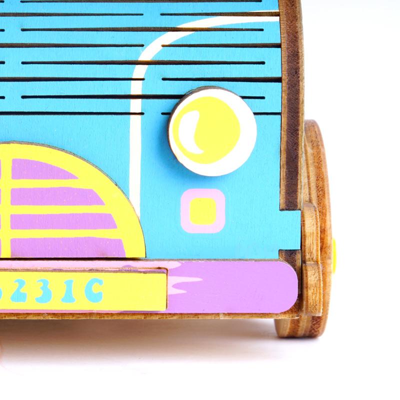 若态 3D木质拼图旋转DIY八音盒