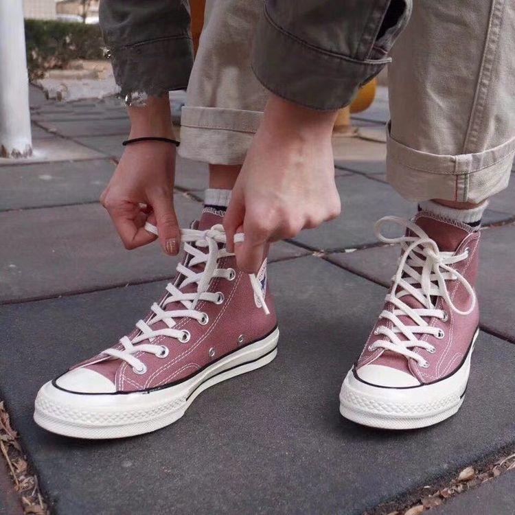 新款1970s三星标帆布鞋高帮男低帮女休闲运动黑色黄色白豆沙粉紫