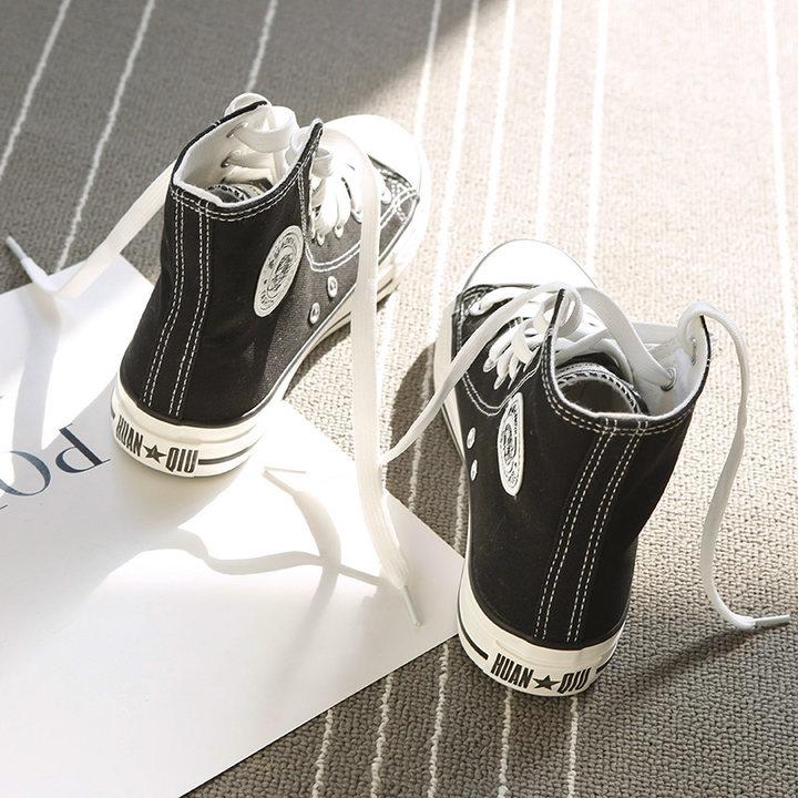 环球2018春季新款高帮女鞋百搭韩版板鞋原宿学生ulzzang帆布鞋夏