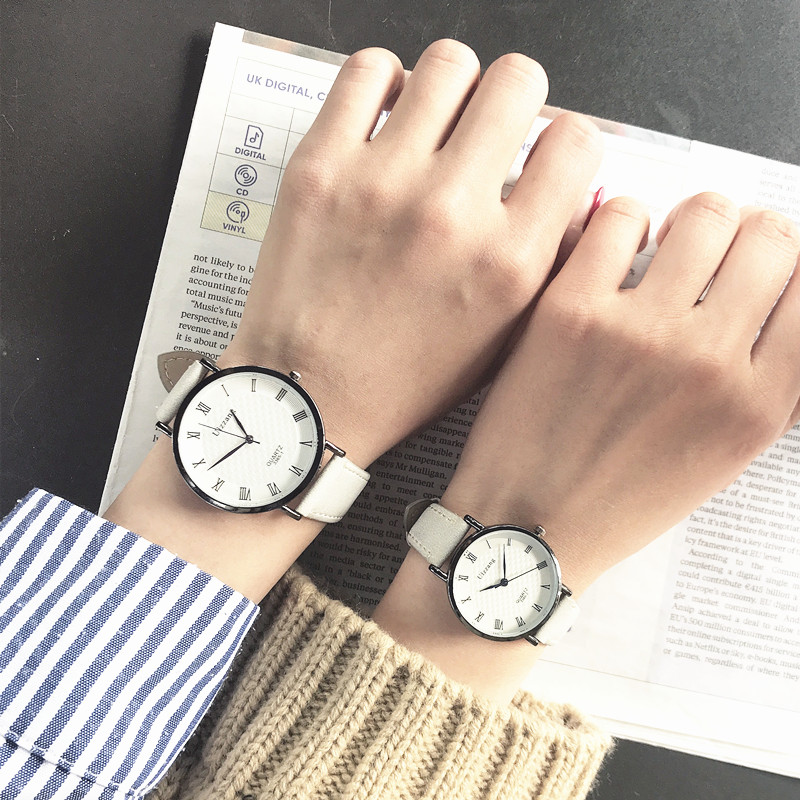 复古休闲情侣手表