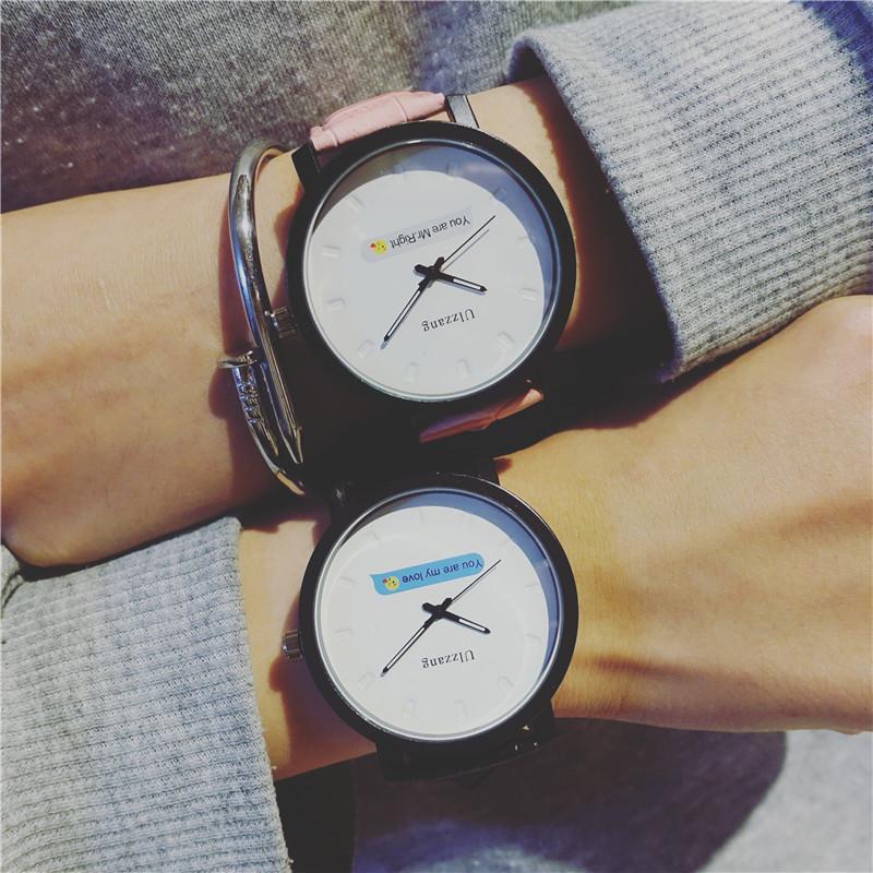 原宿潮流情侣手表