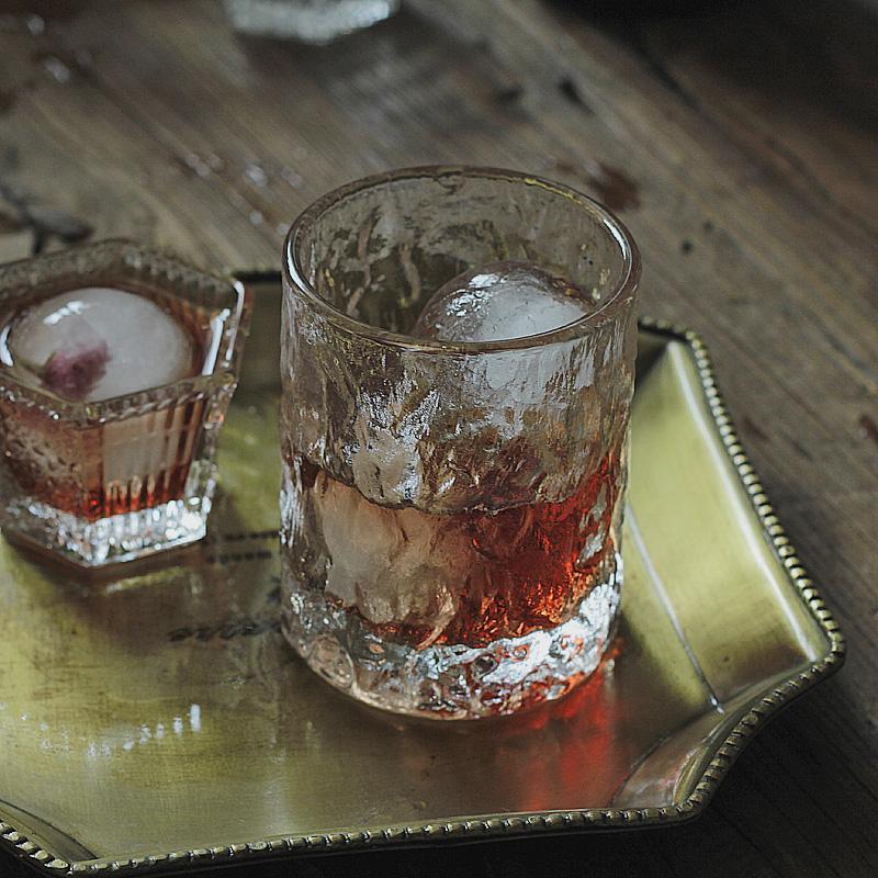 日本原装进口 纯手工威士忌玻璃酒杯红酒洋酒家用烈酒杯 送冰块器