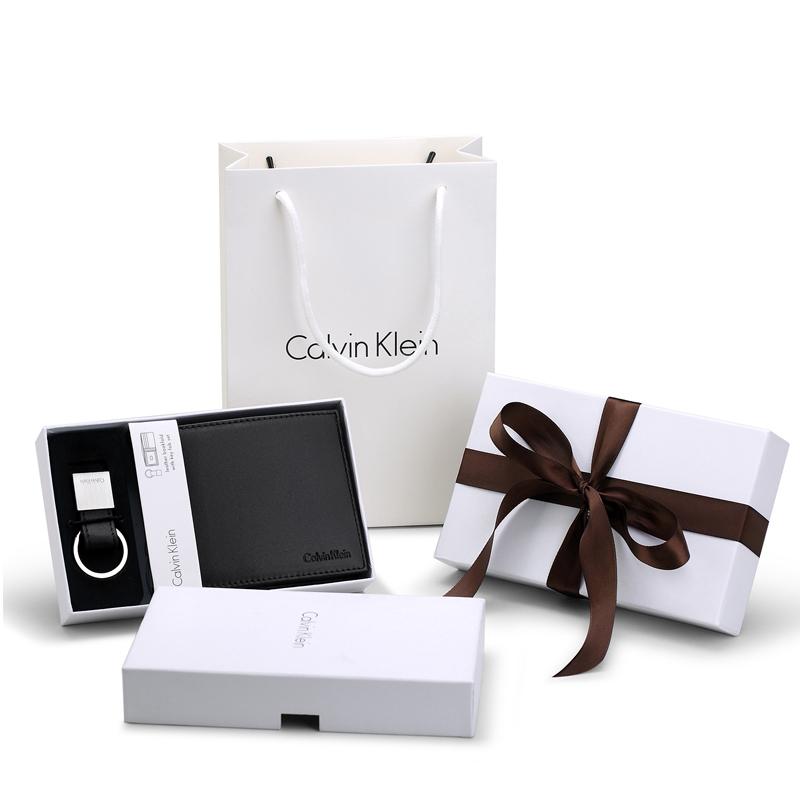Calvin Klein 短款牛皮钱包礼盒