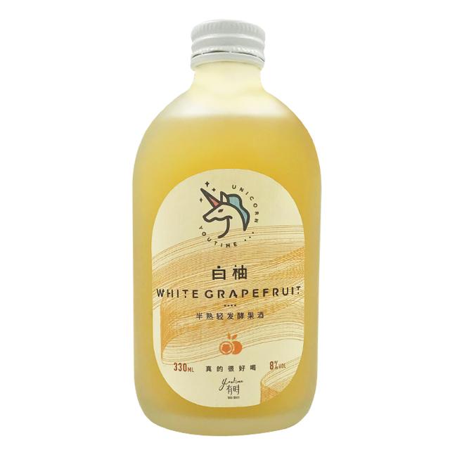 有时独角 半熟轻发酵白柚果酒