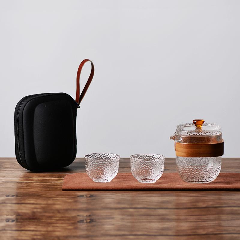 旅行茶具套装便携包 一壶二杯