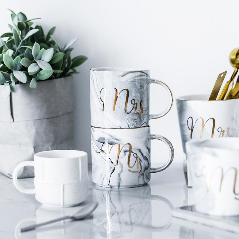 北欧风大理石情侣咖啡杯