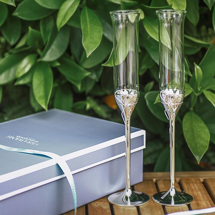 Wedgwood verawang 爱之结水晶香槟杯高
