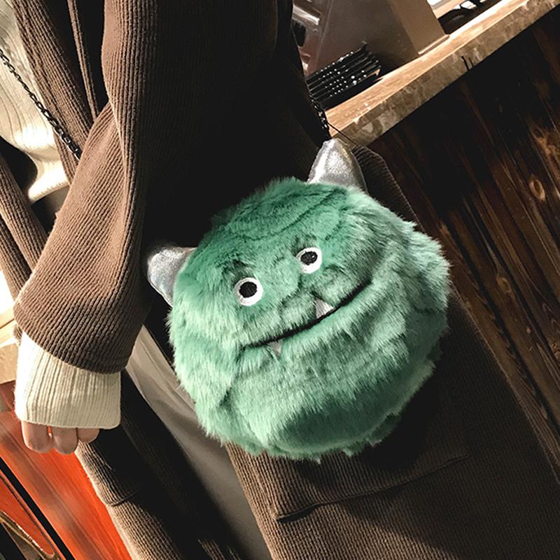 小怪兽恶魔毛绒包